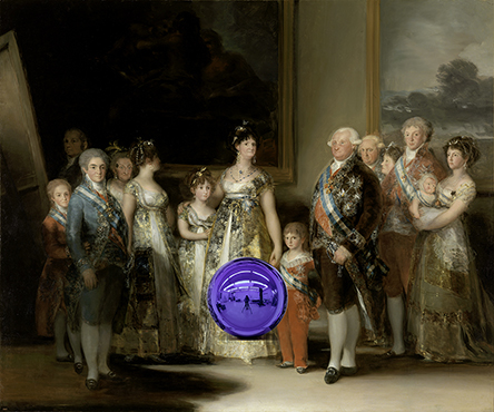 Gazing Ball (Goya The Family of Carlos IV)