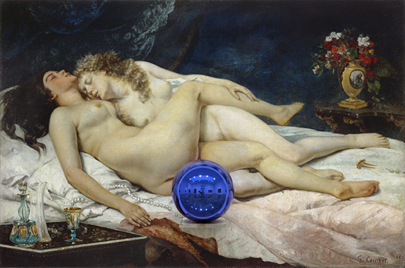 Gazing Ball (Courbet Sleep)