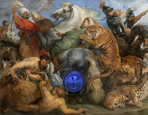 Gazing Ball (Rubens Tiger Hunt)