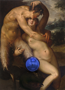 Gazing Ball (Spranger Jupiter and Antiope)