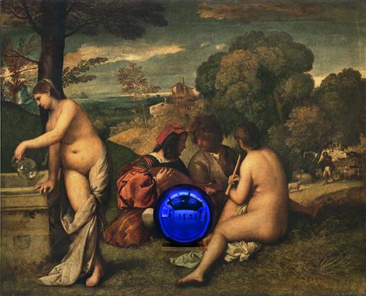 Gazing Ball (Titian Pastoral Concert)
