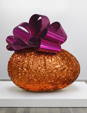 Baroque Egg with Bow (Orange/Magenta)