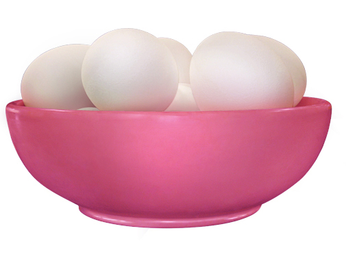 Bowl with Eggs (Magenta)