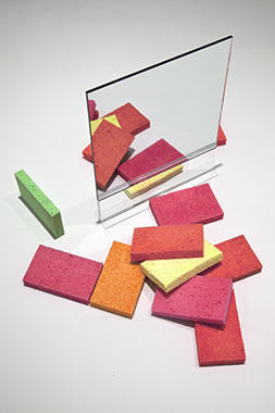 Sponges with Single Double-Sided Floor Mirror