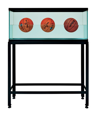 Three Ball 50/50 Tank (Two Spalding Dr. J Silver Series, Wilson Supershot)