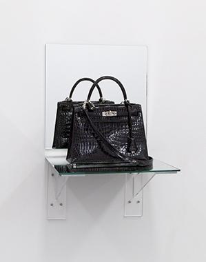 Kelly Bag Black Croc (Shelf) - Bag donated by Almine-Ruiz Picasso