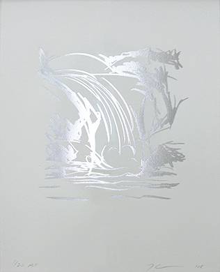 Untitled (Waterfall Drawing)