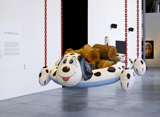 Dogpool (Logs) by Jeff Koons. Un Certain Etat de Monde?, Garage Center for Contemporary Culture, 2009.