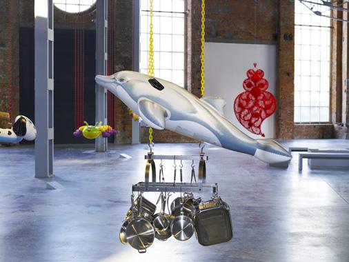 Dolphin by Jeff Koons. Un Certain Etat de Monde?, Garage Center for Contemporary Culture, 2009.
