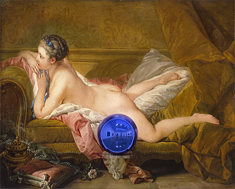 Gazing Ball (Boucher Reclining Girl)