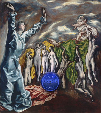 Gazing Ball (El Greco Vision of Saint John)