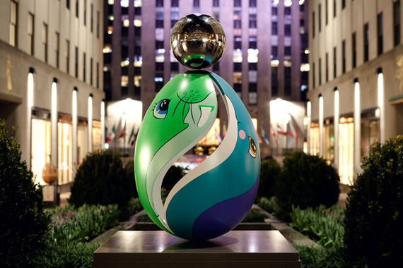 Untitled (Egg) – Faberge Big Egg Hunt donation by Jeff Koons (2014)