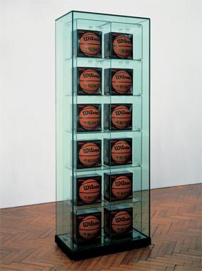Encased - Two Rows (12 Wilson Michael Jordan Basketballs)