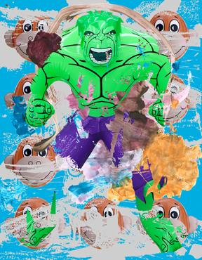 Hulk Elvis Monkey Train Swish (Blue)