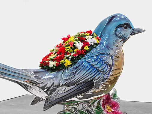 Jeff Koons, Bluebird Planter. David Zwirner: 25 Years, New York, 2018