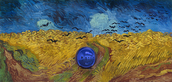 Gazing Ball (van Gogh Wheatfield with Crows)
