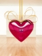Hanging Heart (Magenta/Gold)