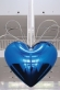 Hanging Heart (Blue/Silver)