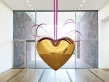 Hanging Heart (Gold/Red)