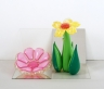 Inflatable Flowers (Short Pink, Tall Yellow)