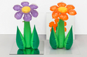 Inflatable Flowers (Tall Purple, Tall Orange)