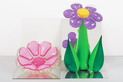 Inflatable Flowers (Short Pink, Tall Purple)