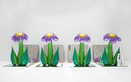 Inflatable Flowers (Four Tall Purple with Plastic Figures)