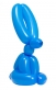 Balloon Rabbit Wall Relief (Blue)