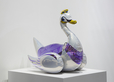 Jeff Koons, Swan (Inflatable). Art Basel Hong Kong, David Zwirner Gallery Booth.