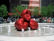 Jeff Koons. Balloon Flower (Red), 7 World Trade Center, New York, 2006.